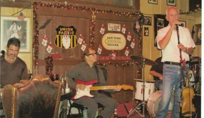 With the Band and Dad at Donns Christmas