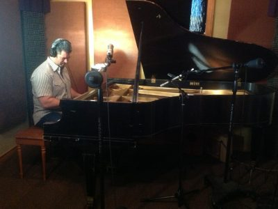 Working on my first cd at Chris Gage's Moonhouse Studio